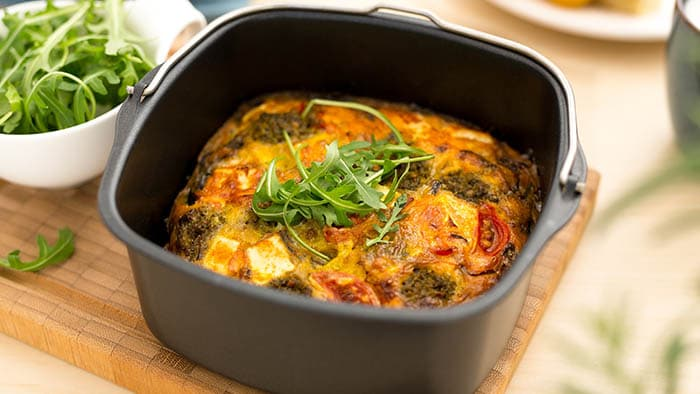 Frittata with goat cheese
